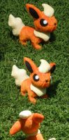 Flareon Plush by Glacdeas