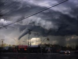 A Massive Tornado Over Tremont Ave by bobbyboggs182