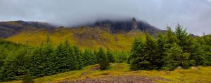 Old Man of Storr through the clouds by Raiden316