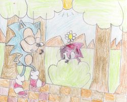 Classic Sonic And Amy Love by ClassicSonicSatAm