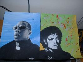 Jay z and MJ by LunaCreationsX