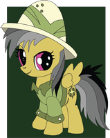 Commisson: Filly Daring Do 8x10 by The-Paper-Pony