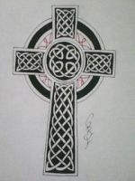 traditional Celtic cross by gbftattoos