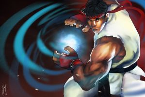 Ryu by Andreanable