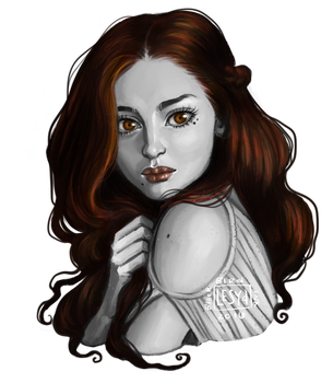 Mini Portrait__ Khaleya The Nymph by BlackBirdInk
