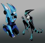 Blurr and XRL8 by NerwenAdanedhel