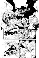 Batman Greg Capullo pencils Farnk Arvizu inks by Colorzoo