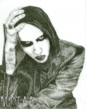 Marilyn Manson Micrography by Nuptaa