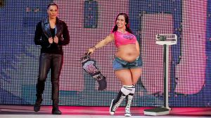 AJ Lee at the WWE weigh in by cahabent