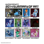 2014 Summary of art by Nazegoreng