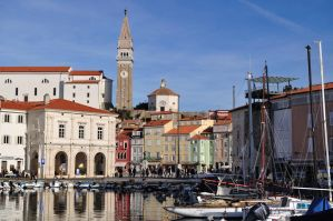 Port of Piran and Tartini Square by dcheeky