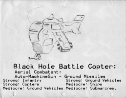 Black Hole Battle Copter: AWDS by Naotachai