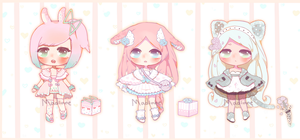 Lowered price Adoptable Auction#3-5! [OPEN] by Madinne