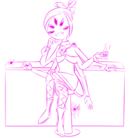 UNDERTALE AU: Haleward Extra - Muffet by Registered111