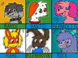 Owned Characters - Part B-II by Eevee33