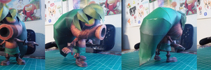 The Legend of Zelda Papercraft ~ Deku Link ~ by SuperRetroBro