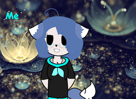 Here is my character!! by BluepawwDraws