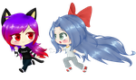 Commission - Ally and Sierra by Anime-Weaboo-Queen