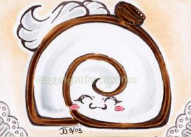 Coffee and Cream Swiss Roll [053] by kiwitee