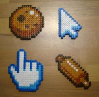 Cookie Clicker in Hama Beads by Nidoran4886