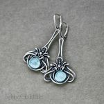 Aqua Earrings by taniri