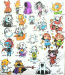 Chibi UNDERTALE characters (colored ) by Twinklii