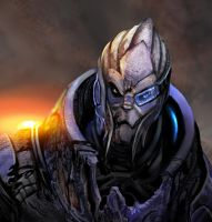 garrus bust by calisto-lynn