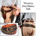 Western Gun Holster Belt by Steampunked-Out