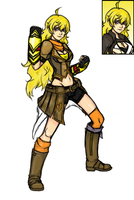 Rwby Yang full body by Razenix-Angel