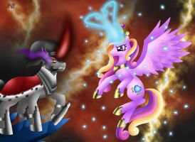 King Sombra VS Princess Cadance by Rose-Beuty