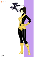 Kitty Pryde Lockheed (X-Men) by FeydRautha81