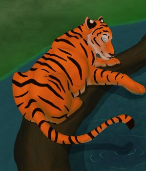 Tiger on a Log, Collaboration by Rarrum
