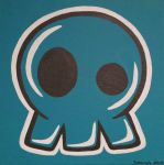 Skull in Teal by suzannahashley