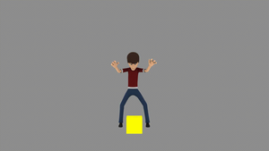 A test in animating without a reference. by Testingte