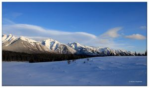 Banff Mountains by Haufschild