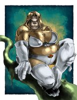 Emma Frost Gorilla Woman by Knightmare10880
