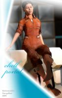 Chell Pinup 3 by thelonesoldier