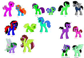 Most of my OCs as Ponies by Spirit-ual