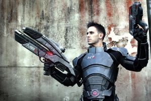 Commander Shepard: Favourite guns on the Citadel by LittleBlondeGoth