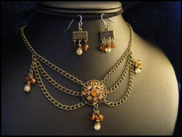 Button Drop Necklace Set by BacktoEarthCreations