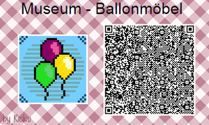 ACNL - Museum Sign 'Balloon Furniture' by Rickulein