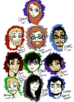 Caricatures 1 by Aeonathenne