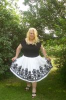 Black Patterned Petticoat Dress 01 by MellissaLynn