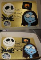 Jack and Sally Cakes by snowyapplebomb
