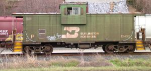 train yard 13 - caboose side by JensStockCollection