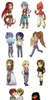 Christmas Chibis Requests 2008 by 2Dea