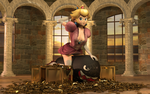 Princess Peach Pinup by DarklordIIID