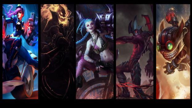 Team of Badasses (League of Legends Wallpaper ) by AkatsukiAkuma53421