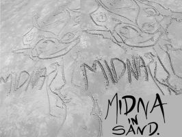 Midna in Sand by AmmyWolf95