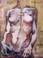 nude study, oils by AbsintheArtimisia